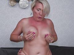 mature, cougar, big boobs, from behind, short haired, reverse cowgirl, boobs groping, mature nl, gasha