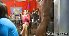 Thrilling blowjob at the club is awesome