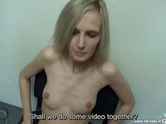 Czasting - skinny czech blonde at casting