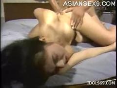 Horny slut gets the fast fuck