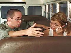 Teen fucked on the school bus