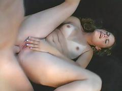 anal, strip, tube8.com, brunette, oral, deep throat, reverse cowgirl, facial, young, natural tits, shaved pussy, freckles