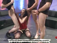 German bitch bukkake gangbang