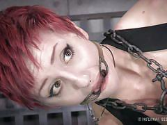 milf, tattoo, bondage, bdsm, redhead, whipping, stockings, dildo, chains, mouth gagged, electric wand, anal hook, restraints, infernal restraints, cadence cross