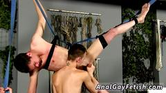 Captured guys in bondage gay the sight of the studs naked figure suspending there ready