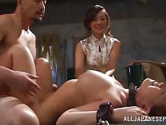 Three sluts tied up