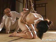 Nippon whore tied punished and pleased