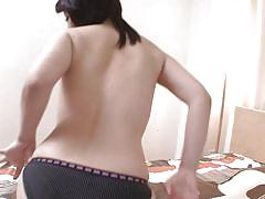 Big breasted japanese bitch masturbates with a sex toy