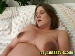 Horny pregnant amateur wife