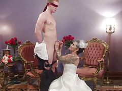 tattoo, bride, bdsm, interracial, latina, blowjob, wedding, shemale big boobs, tranny babe, ts seduction, kink, ts foxxy, zane anders