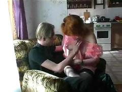 Russian mature housewife and young guy