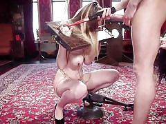 threesome, anal, bdsm, babe, busty, mouth fuck, nipple clamps, electric wand, device bondage, slave training, the upper floor, kink, xander corvus, arabelle raphael, stella cox