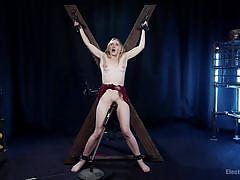milf, bdsm, lesbians, torture, busty, vibrator, lezdom, clothespins, electric wand, device bondage, electro sluts, kink, cherry torn, riley reyes