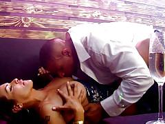 Robert and foxxy get sexy in the club @ transsexual girlfriend experience #03