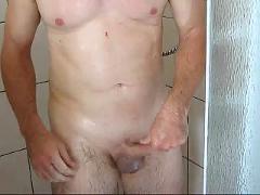 Shower jerk off