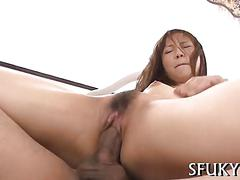 Opening her pussy and she loves the sensations