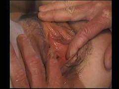 Teen with braces and a hairy pussy takes an anal pounding