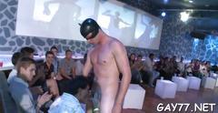 Boy sucking stripper at party film movie 1