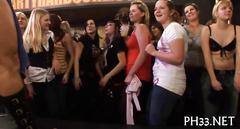 Raucous group sex breaks out during a striptease