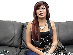 Amazing latina anal teen on casting couch