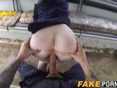 Gorgeous redhead babe ella enjoys getting fucked by the cop
