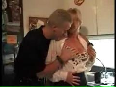 Blonde milf double penetrated and facialized