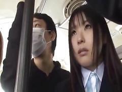 japanese, schoolgirl, teen, bus, grope, reality, uniform
