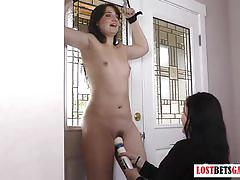 amateur, lesbian, lostbetsgames.com, amateurs, babe, straight, strip game, homemade real, small tits, hitachi wand, bound