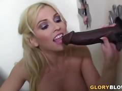 Christie stevens gives blowjob to a bbc - gloryhole