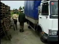 Police colleagues fuck in the truck