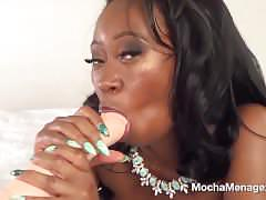 Mocha menage blowjob instructional