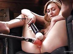 Amazing alexa masturbates with her sex machine