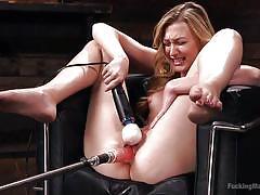 small tits, blonde, babe, solo, masturbation, vibrator, sex machine, self fucking, fucking machines, kink, alexa grace