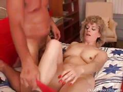 Mature crystal loves riding her lover's huge cock