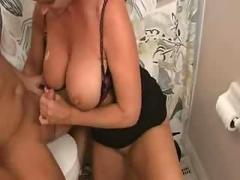 Mifl with big tits bathroom hj and bj