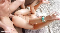 Jessie volt in gonzo creampie sex scene by all internal