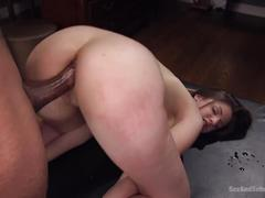 British babe fucked ass over tits