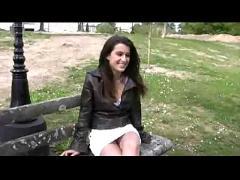 Teen sarah upskirt in public park