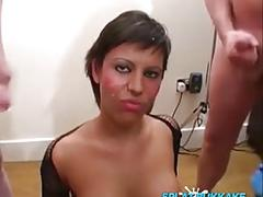 Bukkake party cumshots for sexy scarlett march