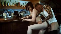 Beautiful stoya fucks in a bar