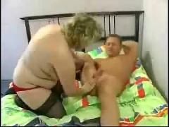 Bbw blonde granny anal fucked