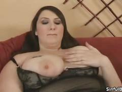 Bbw jane plays with her titties and pussy