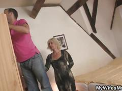 Thick young cock for granny