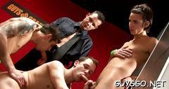 Gay hotties partying hard