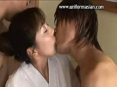 Asian sexy mature bigtits in kimono sex