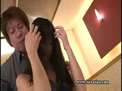 Asian freshly slim tiny teen make love