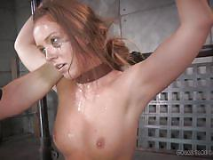 bdsm, babe, interracial, crying, fucking machine, brunette, tied up, mouth fuck, vault, real time bondage, maddy o'reilly