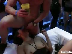 Drunk pornstars fuck at the club