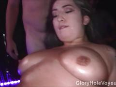 Big boobs adult theater gangbang