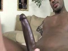 Hot blonde smokes black pole